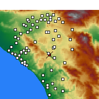 Nearby Forecast Locations - Wildomar - Carte