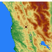 Nearby Forecast Locations - Willits - Carte