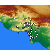 Nearby Forecast Locations - Woodland Hills - Carte