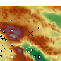 Nearby Forecast Locations - Yucca Valley - Carte