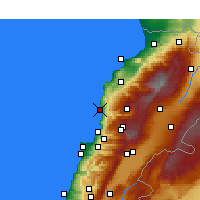 Nearby Forecast Locations - Byblos - Carte