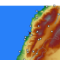 Nearby Forecast Locations - Jounieh - Carte