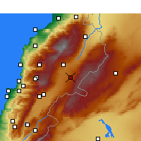 Nearby Forecast Locations - Baalbek - Carte